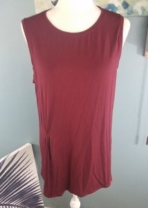 Fabletics Burgandy Top Size Small